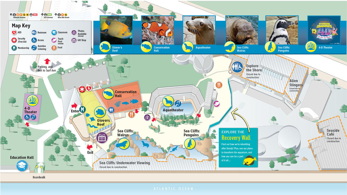 Ny Aquarium Map Gallery