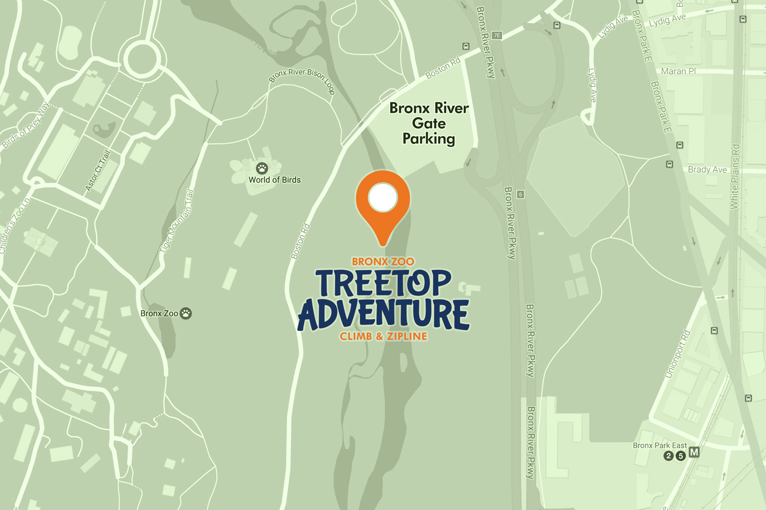 Boston Subway Map To Zoo.Visitor Info Bronx Zoo Treetop Adventure