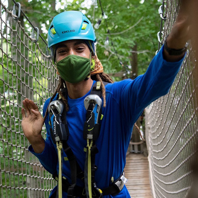 Treetop Adventure with Visitors